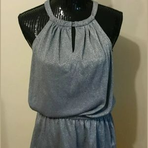 Calvin Klein Gray Sparkle Sleeveless Top Size Med